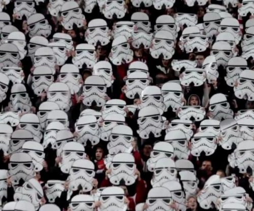 Bulgarian soccer fans celebrate 'Star Wars'
