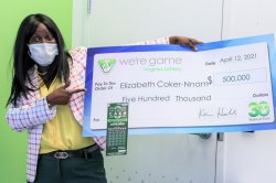 Belated birthday gift from brother earns woman a $500,000 lottery prize