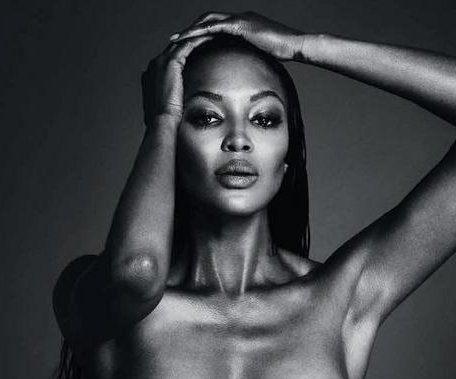 Naomi Campbell shares topless photo on Instagram