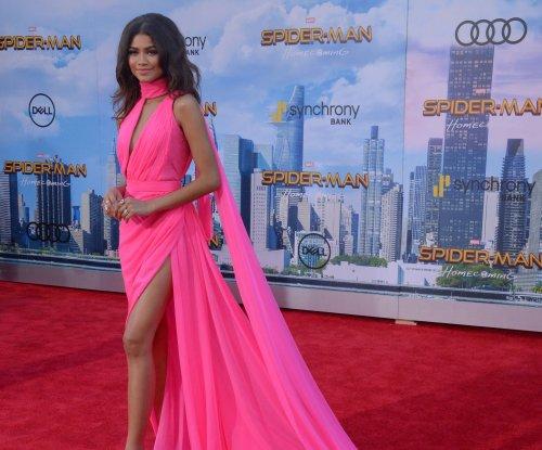 Zendaya, Marisa Tomei show leg at 'Spider-Man: Homecoming' premiere