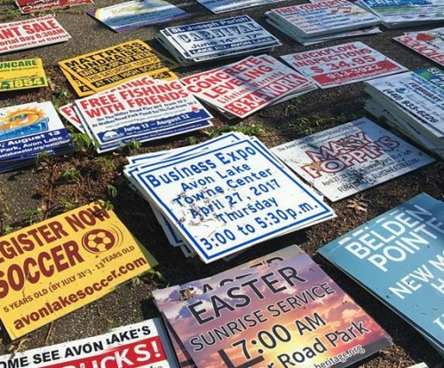 Ohio man admits to stealing more than 500 roadside signs