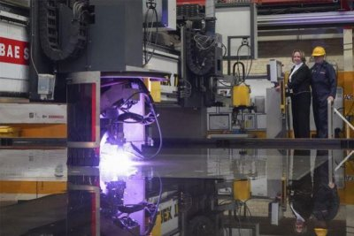 First steel cut for British anti-submarine frigate HMS Cardiff