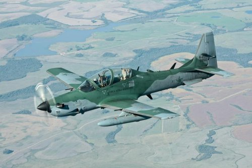 First A-29 rolls off Florida assembly line for USAF program