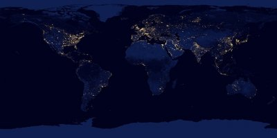 Satellite offers new night image of Earth