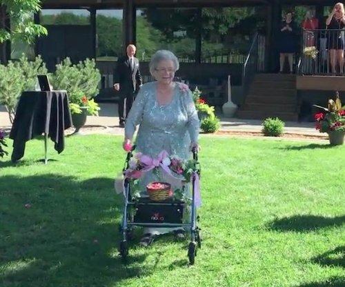 92-year-old flower girl stars at granddaughter's wedding