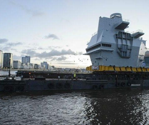 Time-lapse video shows HMS Prince of Wales construction