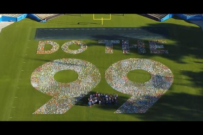 Giant number at Rose Bowl Stadium breaks Guinness record