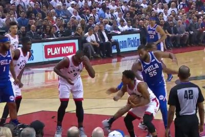 Toronto Raptors' Serge Ibaka suffers nasty cut after Kawhi Leonard elbow