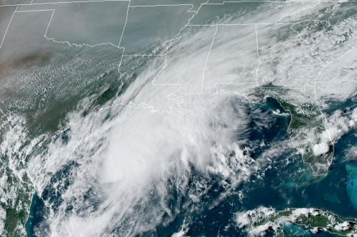 Tropical Storm Beta forms in the Gulf of Mexico, shattering records