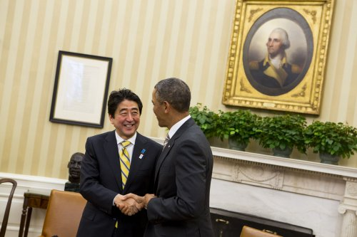 Obama, Abe discuss N. Korea, trade, jobs