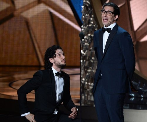 Kit Harington proposes to Andy Samberg onstage at the 2016 Emmys