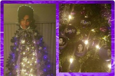 Viral 'Princemas tree' pays seasonal tribute to The Purple One