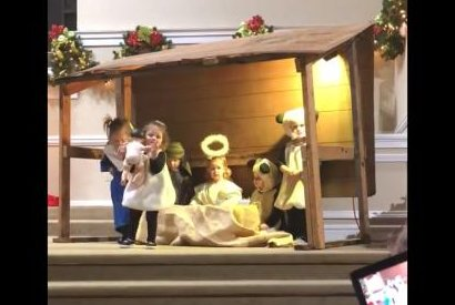 Preschool nativity play goes awry when 'sheep' kidnaps Jesus