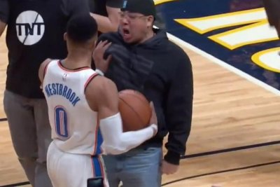 Nuggets fan gets in Russell Westbrook's face after loss