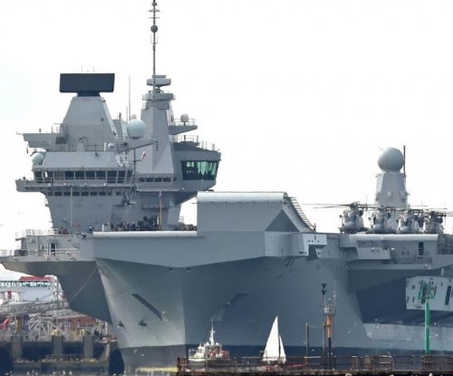 Britain's new $3.86B aircraft carrier arrives at home port