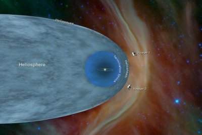 Voyager 2 exits the heliopshere, enters interstellar space