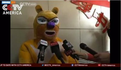 Chinese lottery winner hides identity with bear suit