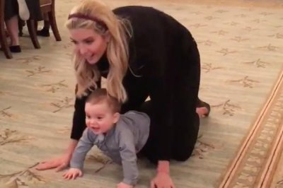 Ivanka Trump's son Theodore crawls for first time in White House