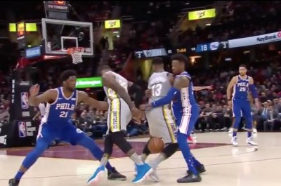 LeBron James pulls off impossible nutmeg dribble, Sixers beat Cavs