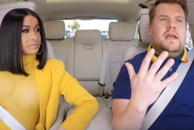 Cardi B, James Corden sing and chat in Carpool Karaoke segment