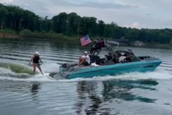 Indiana woman wakesurfs for 8 hours to more than triple Guinness record