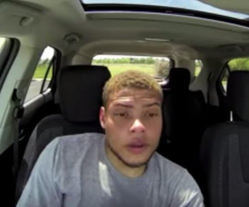Tyrann Mathieu sits in hot car for public service announcement