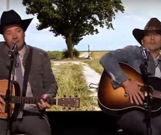 Ethan Hawke, Jimmy Fallon pose as FML country singers on 'Tonight'