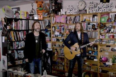 Black Crowes perform acoustic set at Tiny Desk concert