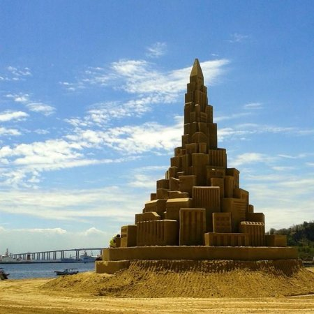 39-foot sandcastle in Brazil may be world record