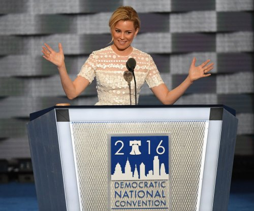 Elizabeth Banks parodies Donald Trump's 'over-the-top' entrance during DNC speech