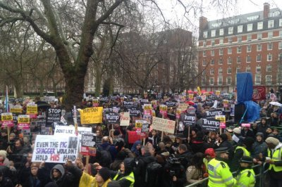Thousands march in London to protest Donald Trump's state visit
