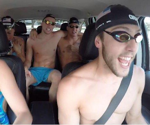 U.S. Olympic swim team participates in 'carpool karaoke' spoof