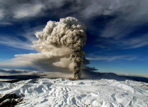 Volcanic eruptions help slow global warming