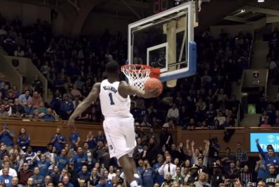 March Madness: CBS to debut 'Zion Cam,' following Duke's Williamson