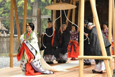 Japan's Emperor Naruhito, Empress Masako wrap enthronement at shrine