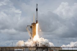 SpaceX Falcon 9 rocket launches cargo to space station