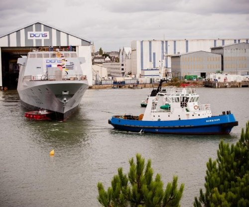 New frigate for French Navy takes to water