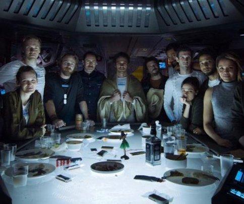 'Alien: Covenant' cast assemble for new crew photo