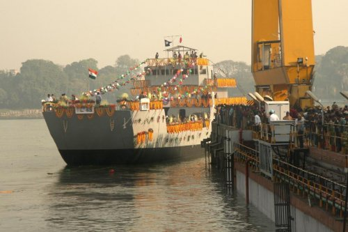 Indian navy commissions first Mk IV-class Landing Craft Utility ship