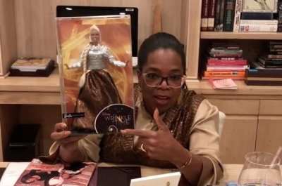 Oprah Winfrey shows off her 'Wrinkle in Time' Barbie doll