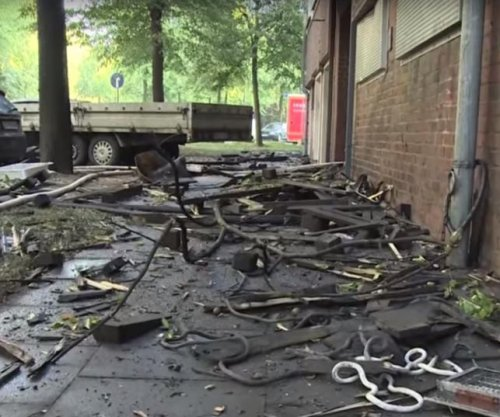 38 hurt as Hamburg, Germany, World War II bunker burns