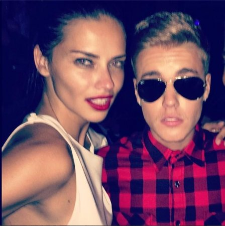 Adriana Lima allegedly 'hooked up' with Justin Bieber