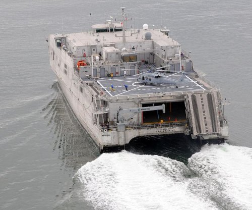 Austal USA Shipyard launches new JHSV for Navy