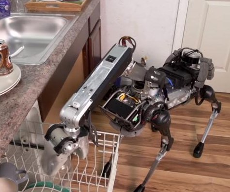 Firm unveils 'robot dog' that does the dishes