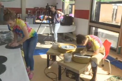 Teacher makes 261 clay pots in an hour to break Guinness record