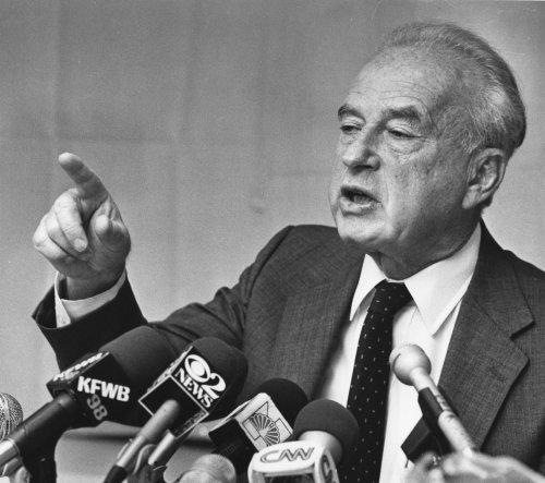 Dichter blasts extremists in Rabin speech