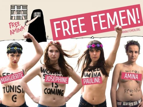 Femen activists detained as Tunis trial ajourns