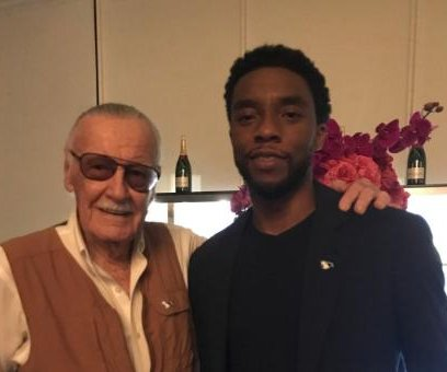 Stan Lee shares photo with 'Black Panther' star Chadwick Boseman
