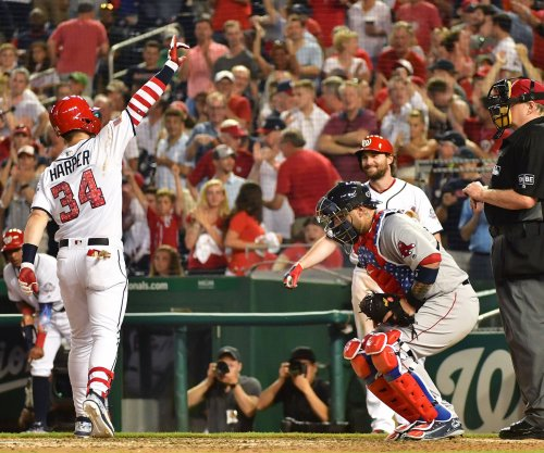 Bryce Harper hacks 439-foot homer in Nats' loss to Red Sox