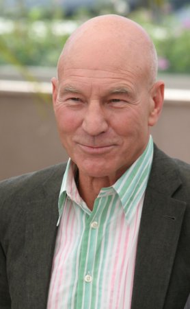Patrick Stewart knighted in London